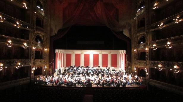 La Orquesta Sinfónica simón Bolivar en pleno ensayo.
